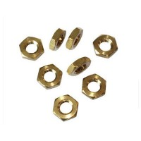 Hex 1/2 Nuts Brass M 4 - M10 (Sold Per 100)
