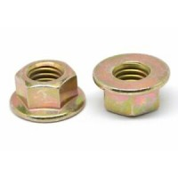Yellow Flange Nuts Zinc M12 (Sold Per Each)