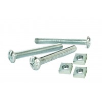 Gutter Bolts & Square Nuts M 6 (Sold Per 100)
