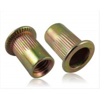 Large Flange Rivet Nuts Yellow M 4 - M10 (Sold Per 100)